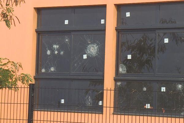 Lékol Célimène, Ecole artistique de Plateau Caillou, vandalisée