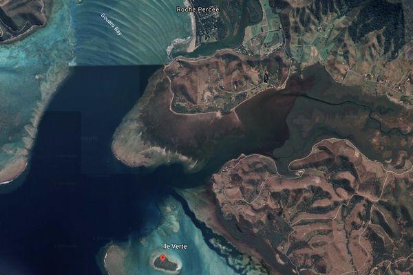 Zone de l'île verte vue satellite