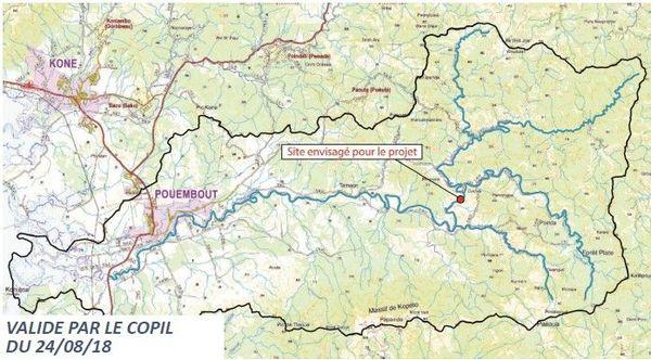 Site barrage Pouembout