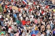 Manifestation contre la gestion de la crise sanitaire à La Réunion, samedi 31 juillet.