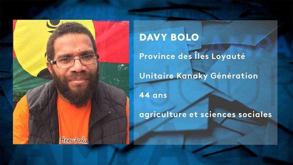 Provinciales 2019: fiche candidat de Davy Bolo