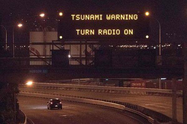 alerte tsunami NZ