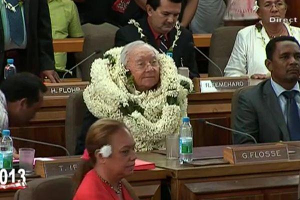 Gaston Flosse, élu Président de la Polynésie française