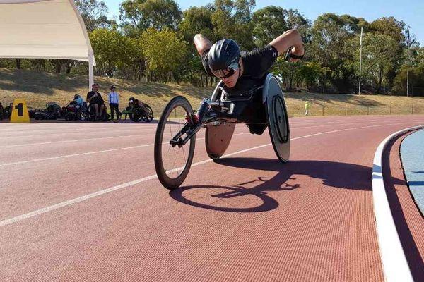Nicolas Brignone en piste à Canberra