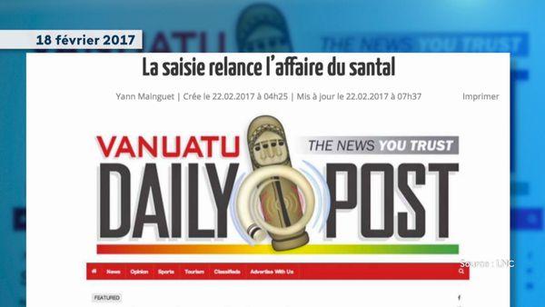 Affaire du bois de santal Lifou-Vanuatu, coupure de presse
