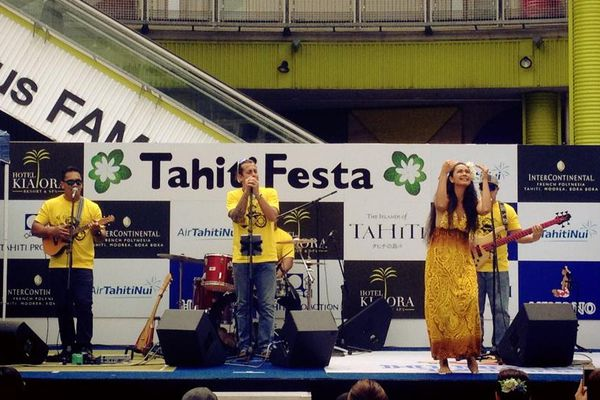 Concert de Teiva LC au Japon pendant le Tahiti Festa 2014