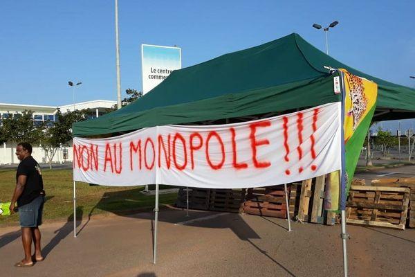 Manifestation vie chère devant Carrefour