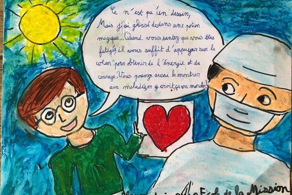 Dessine pour soutenir les soignants et les personnes malades de la Covid