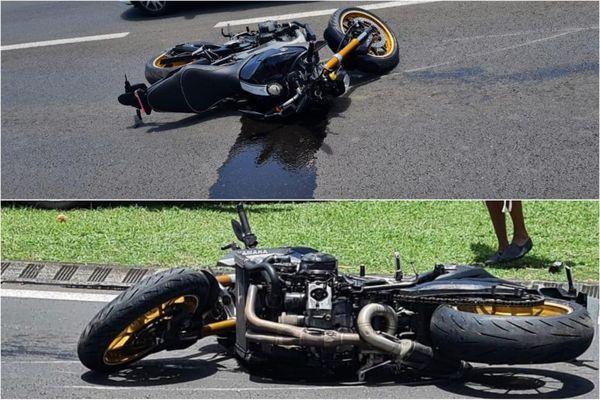 Moto / accident Rivière-Salée