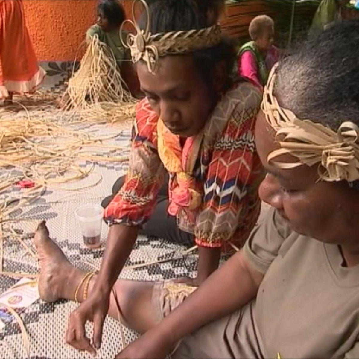 Une place de choix pour la natte traditionnelle Kanak