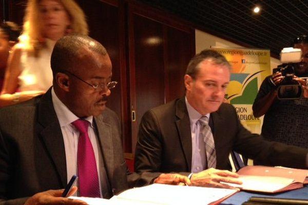 Signature de conventions Etat-Région Pôle emploi
