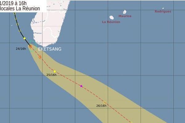 Baptisée Eketsang, une tempête tropicale se situe à 1390 km de La Réunion