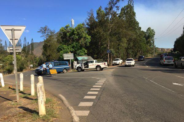 Incendie de Mouirange, route de Yaté fermée (11 janvier 2018)
