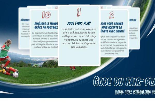 Un site internet de la FIFA rappelle les règles du fair-play. A t'il été respecté samedi dernier ?