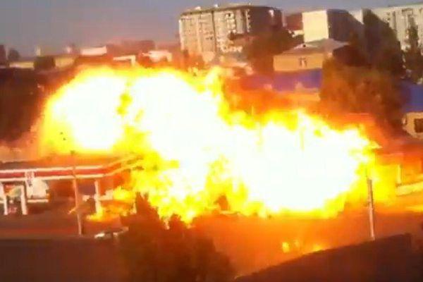 Une station-service explose en Russie