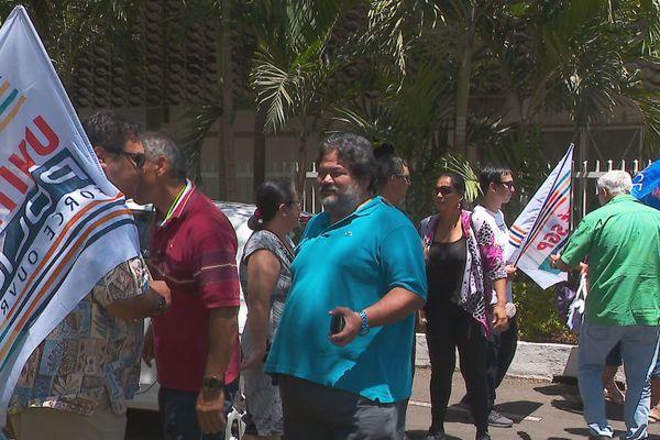 manifestation de policiers devant la dsp