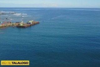 vue aérienne du quai de Leava à Futuna