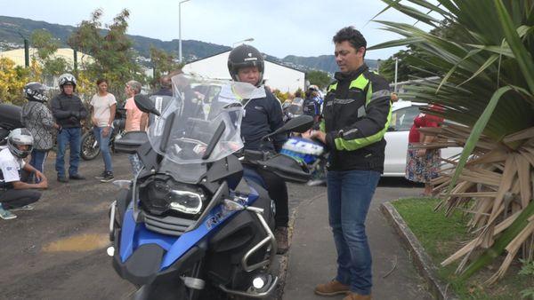 Une virée à moto dédiée aux déficients visuels