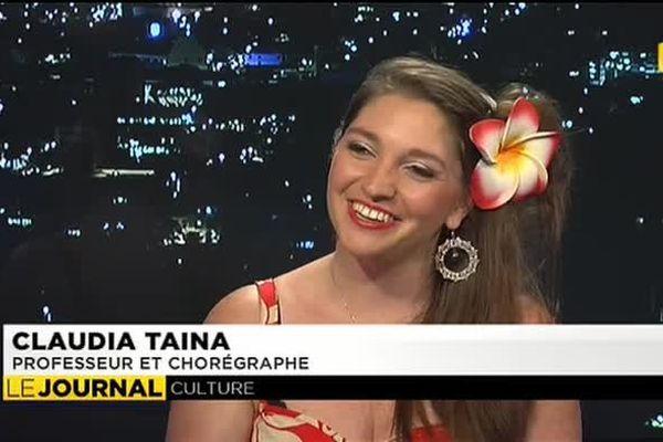 Claudia Taïna, ambassadrice du Ori Tahiti