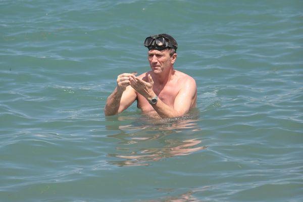 L'acteur Philippe Caroit à la pêche