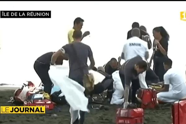 Un jeune homme victime d'une attaque de requin à la Réunion.