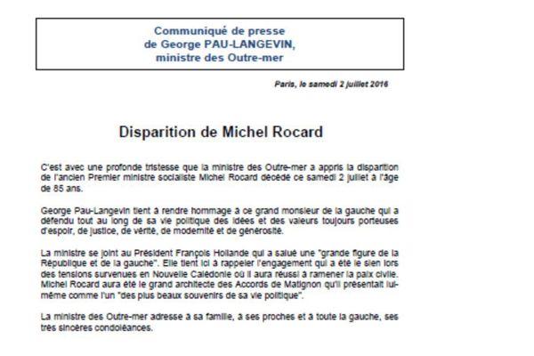 Communiqué GPL Rocard