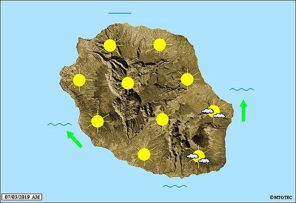 Carte météo du 7 mars 2019