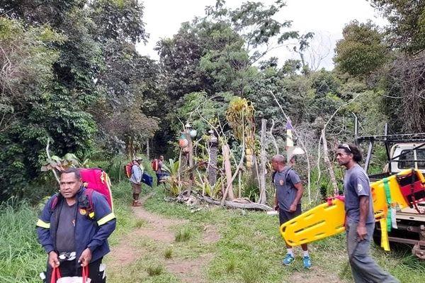 Sauvetage au pic N'Ga à l'île des Pins, 11 novembre 2020