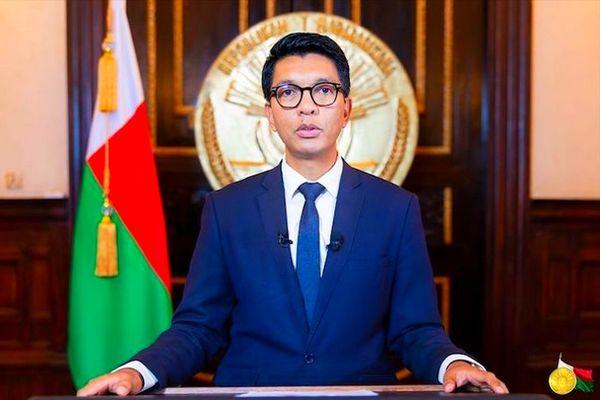 Andry Rajoelina, président de la République de Madagascar, avril 2021