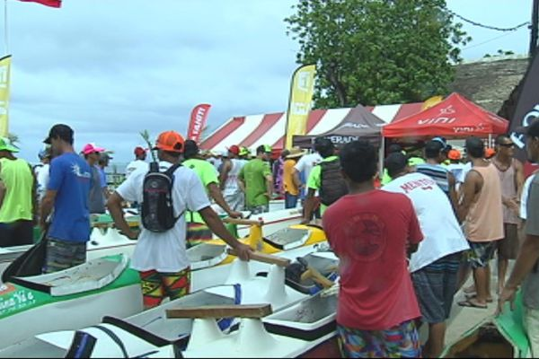 Thalassa au marathon Hawaiki Nui Va'a 2015