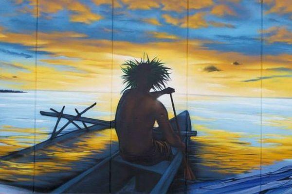 La Polynésie s'expose sur les murs de Vitry