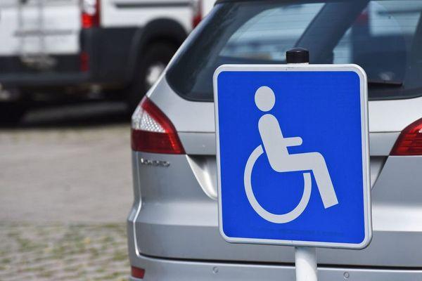 Illustration parking handicap