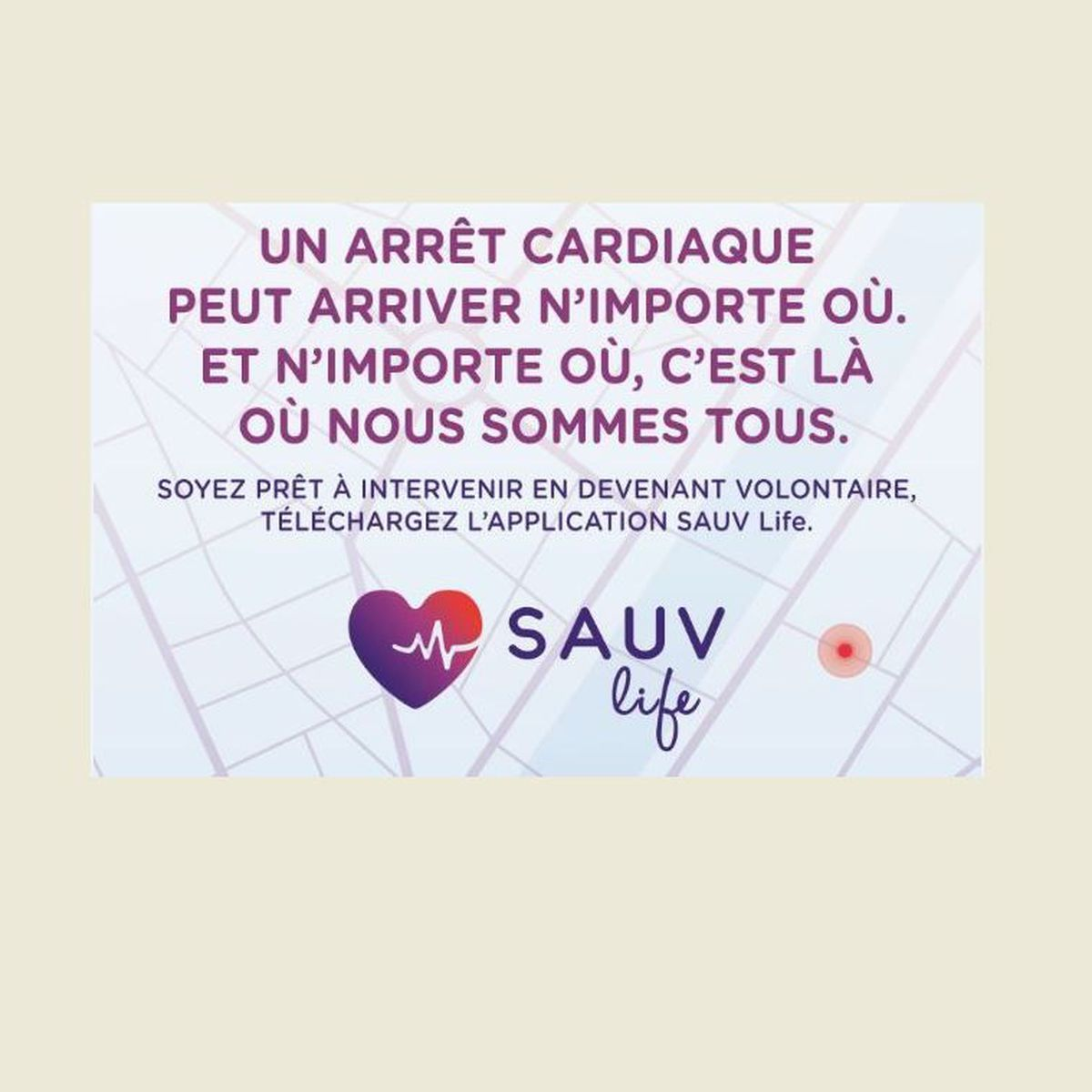Application Sauv Life : Soyons tous des sauveteurs citoyens