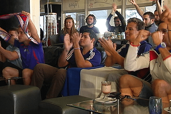 supporters match france