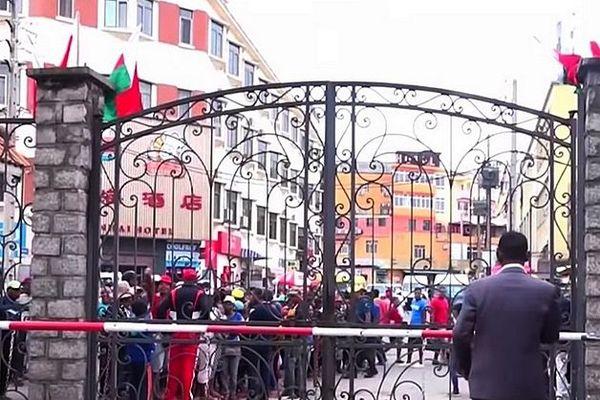 manifestation des vendeurs de rues à Madagascar