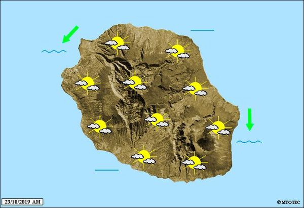 Carte météo 23 ocotbre 2019