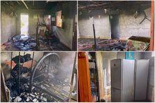 La maison d'Henriette a été entièrement détruite par un incendie.