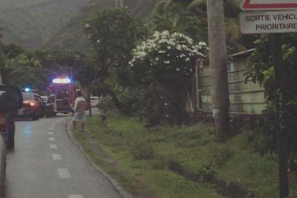 accident caserne pompiers Paea