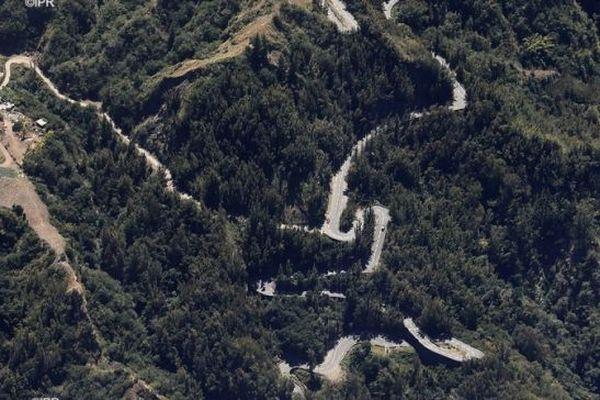La route de Cilaos.