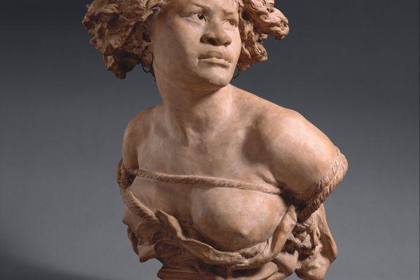 """Buste """" Pourquoi! Naître esclave! """" Jean-Baptiste Carpeaux, 1872"""