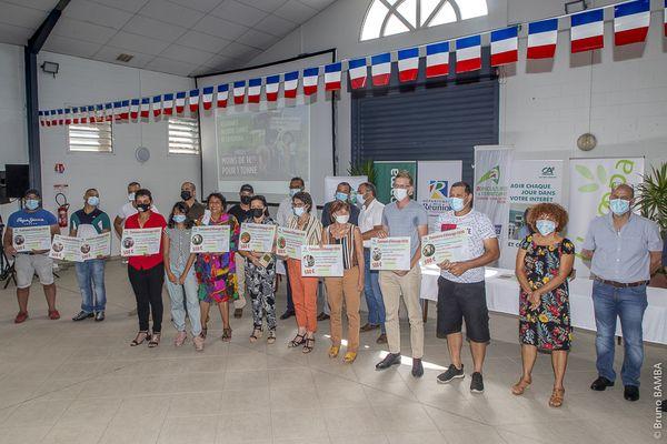 Les lauréats de l'édition 2021 des Journées agricoles de Bras-Panon