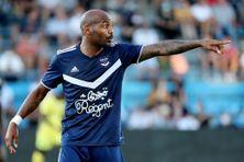 L'attaquant des Girondins de Bordeaux, Jimmy Briand, lors d'un match amical entre son club et le Toulouse FC le 4 août 2020 au stade Armandie d'Agen.