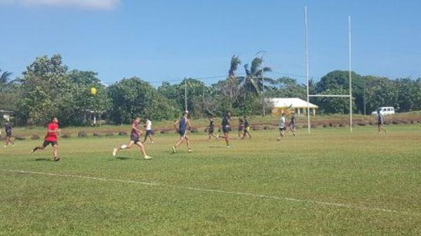 Rugby tournoi U17 wallisiens à l'entraînement