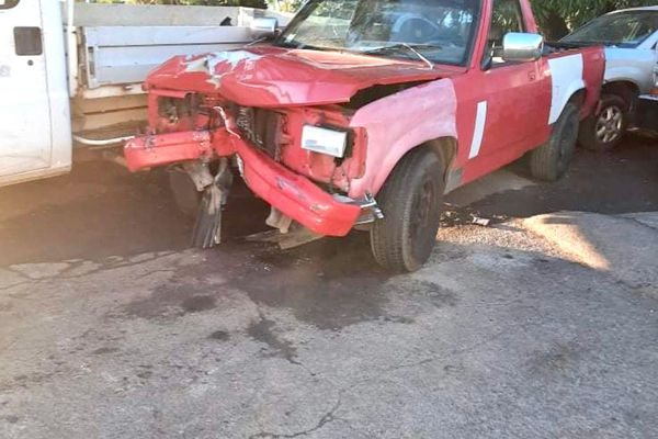 Grave accident de la circulation entre un scooter et une voiture sur la RDO