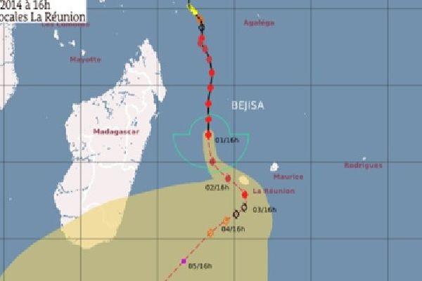 A 19 heures, Bejisa se trouvait à 335 km de La Réunion