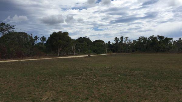 Le premier terrain foulé par Dominique Wacalie à Lifou, celui de Centre Nord.