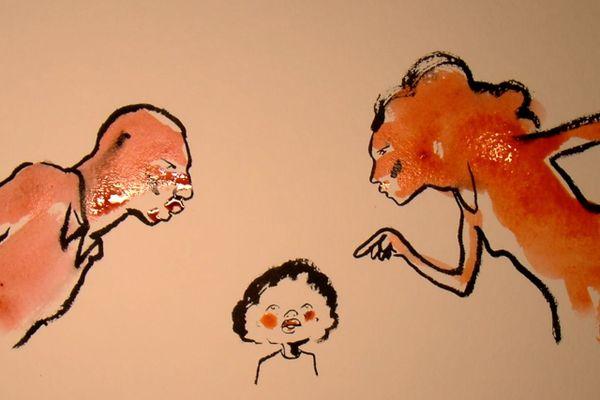 Un monstre est la, derrière la porte Gaëlle Bélem, dessin Hippolyte