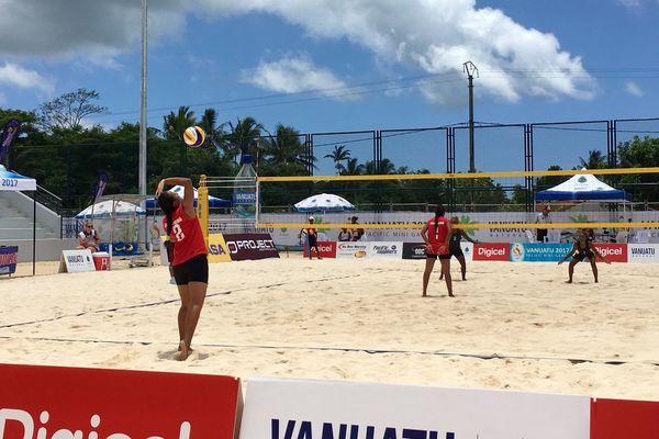beach -volley ; défaite de Nirvana Tufele et Melesete Tiale contre les Salomons