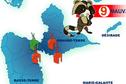 Alerte à la qualité de l'airen Guadeloupe : 9 sur 10 = mauvais