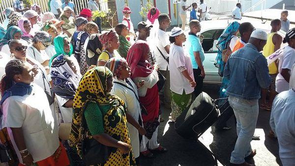 Manifestation du personnel du centre hospitalier de Mayotte